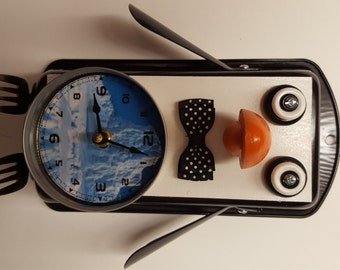 Handmade Penguin Clock