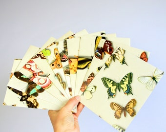 Set of 10 butterfly envelopes, butterfly stationary, butterflies gift envelopes, handmade envelope