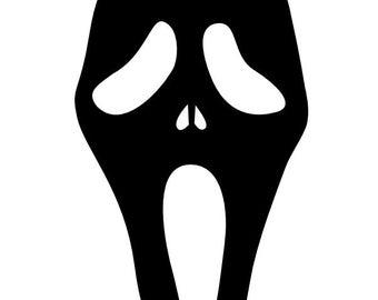 Vinyl Pumpkin Face Stickers Half Skull Face Mask Car Truck