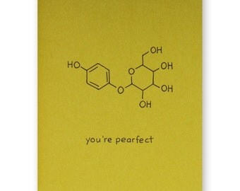 Pear Valentine Card   Youu0027re Pearfect Foodie Love Card   Chemistry Valentine  Love Card