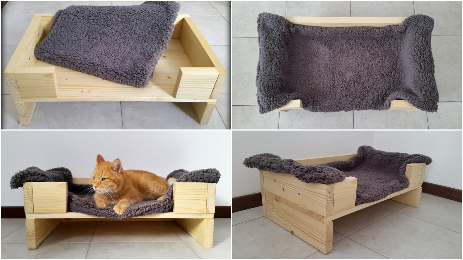 Wood Pet Bed Pet Furniture Cat Bed Dog Bed Made Of Recycled