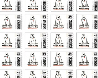 Adopt-A-Dog US Postage Stamps (20)