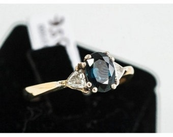 Ring old Mineralife gold yellow Sapphire and diamond