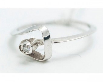 Ring Mineralife Solitaire white gold 18 carats and diamond