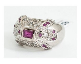 1980 Mineralife in white gold, Ruby and diamond ring