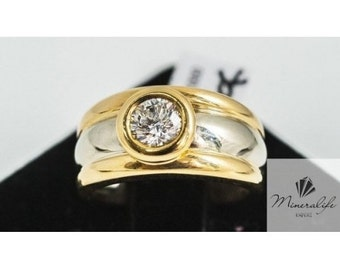 Ring Mineralife ring two golds with a one carat round diamond