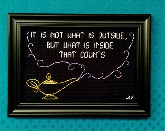 It Is What is Inside That Counts Genie Aladdin Quote