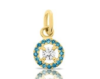 Diamond Pendant, 0.09Ct Diamond Pendant, 14K Yellow Gold Pendant, Yellow Gold Pendant Gift, Jewelry Anniversary Gift