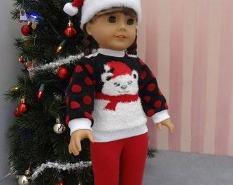 Santa Hat - 18 inch Doll Clothes