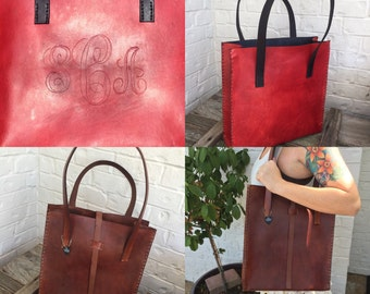 hand stitched tote bag!