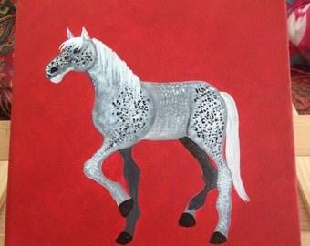Small Dappled Grey Horse Art
