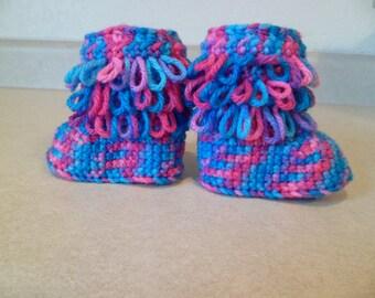 Baby Loop Boots (Pink, Purple, Blue)