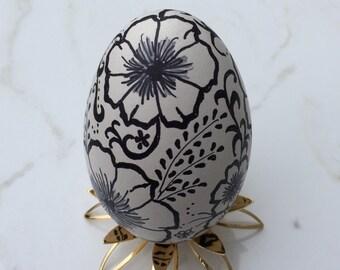 Ceramic Doodle Goose Egg