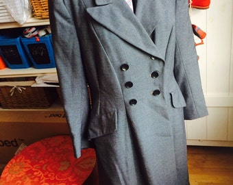 Balmar double breasted vintage coat 1940s  size 14