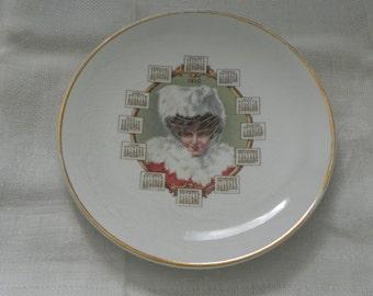 1910 Calendar Plate