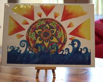 Mandala Sunrise A4/A5 Print