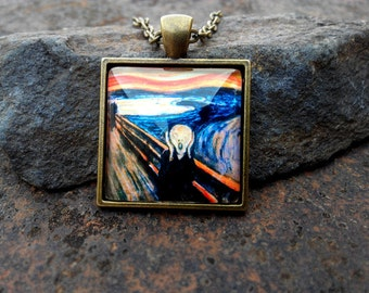"""Pendant based on the picture """"the scream"""" from Edvard Munch"""