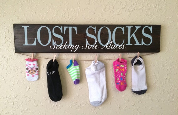 Lost Wedding Gift List : Wedding gift, Lost socks seeking sole mate, hand painted sign. Laundry ...