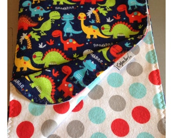 Dinosaur baby blanket, receiving blanket, flannel baby blanket, swaddler, dinosaur bedding, security blanket