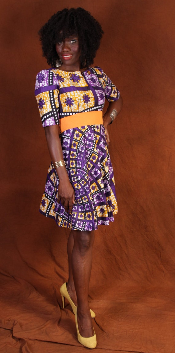 African Fancy Nails Quinceanera Nails Quinceañera Nails: Fancy African Cotton Dress
