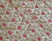 French Boutis Printed Cotton Bed Linens Home decor boutis Vintage Quilt French Quilt French Linens Handmade Courtepointe French Bed Linens