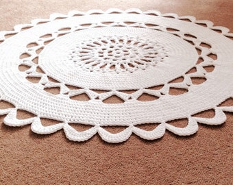 Crochet Round Rug 3ft diameter