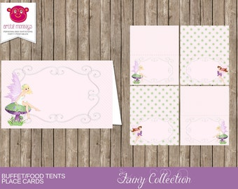 Printable Fairy Themed Food Tent Cards/Place Cards