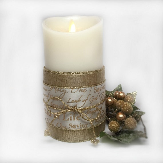 Items similar to christmas decorating ideas flameless candles christmas decoration christmas - Appealing christmas led candles for christmas decorations ...