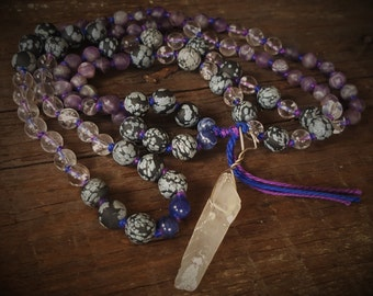 108 Hand Knotted Spiritual Awakening Mala Beads, Mala Necklace, Prayer Beads, 108 Mala Beads, Meditation Beads