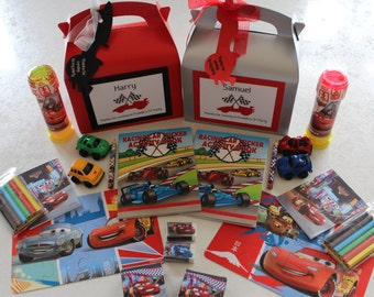 Cars Lightning McQueen - Boys party bags / boxes - personalised