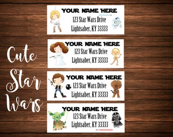 Cute Star Wars Address Labels, Mailing Labels