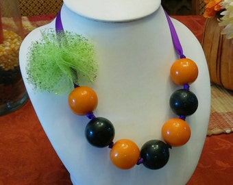 Halloween Gumball Necklace