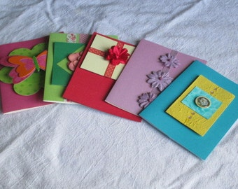 Handmade Greeting Card Assortment w/env; Birthday, Get Well, Thinking of You, Blank, All Occasion