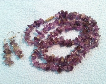 Lovely Amethyst Chip Necklace