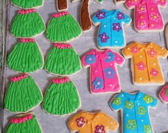 Luau theme cookies - 1 dozen