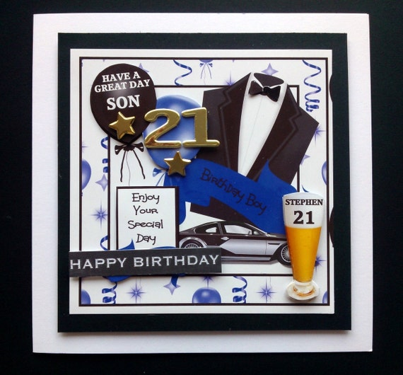 Personalised Male 18th 21st Birthday Card 30th By