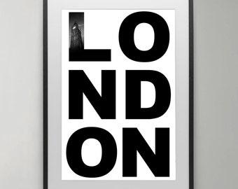 England Photo, Big ben, Black and White, London wall art, London photography, Art Print, Home decor, London Wall Art, Typography Poster.
