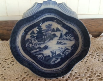 Mottahedeh Blue and White Shell Dish