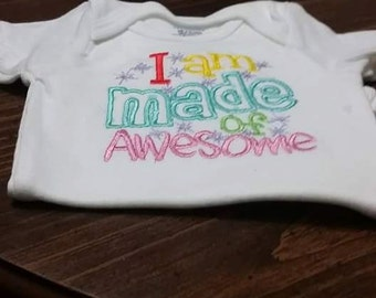 I'm made of awesome onesie