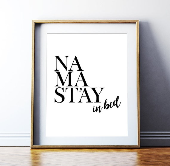 Wall Art Prints Download : Artcostore art digital print namaste poster quot namastay in