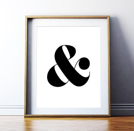 Ampersand Wall Art printable art 'ampersand' poster typography print