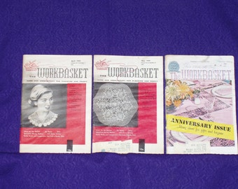 Workbasket 1959 Apr, May & Oct 3 pack