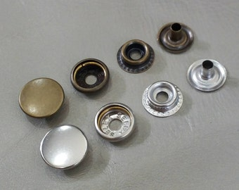 50 sets, BRASS Snap Fasteners buttons, 15 mm., Brass Snap Fasteners, NICKEL FREE, High Quality