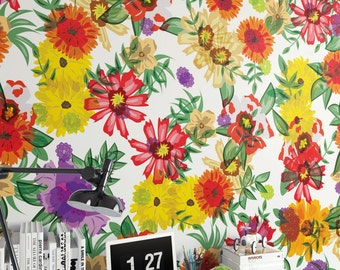 Vinyl Wallpaper, Removable Wallpaper, Peel & Stick 140cm x 278cm – ET59