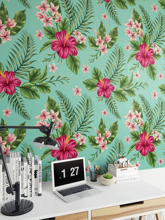 floral vintage 2 vinyl wallpaper removable wallpaper by