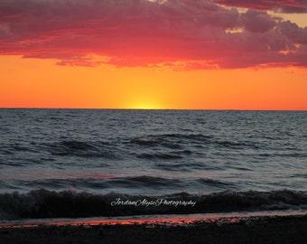 Vibrant Sunset Photo Print
