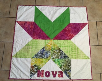 Personalized Star Baby Quilt