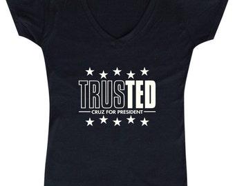TrustTED Cruz for President - Ladies' V-neck