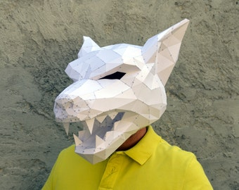 Make Your Own Werewolf Mask. | Papercraft Werewolf | Halloween Mask | Halloween Costume | Wolf Mask | Plain Papyrus | Teenage Werewolf