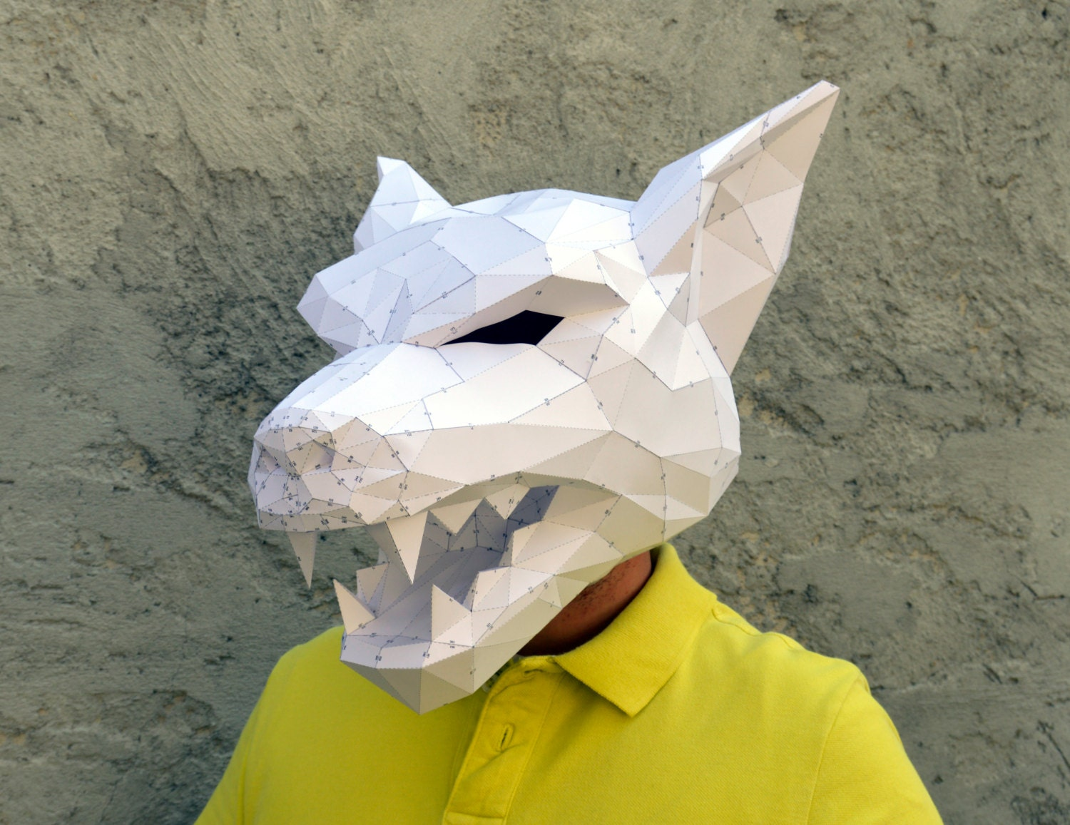 Make Your Own Werewolf Mask Papercraft on Donkey Mask Template